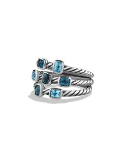 David Yurman David Turman Confetti Collection Ring with Blue & Hampton Blue Topaz