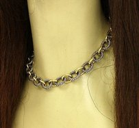 David Yurman David Yurman 18k Yellow Gold Sterling Silver Cable Style Chain Link Necklace