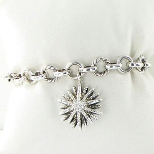 David Yurman David Yurman Bracelet Starburst Charm Chain 0.32cts Diamonds 925