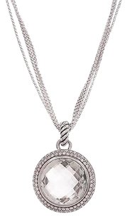 David Yurman David Yurman Sterling Silver Prasiolite Diamond Cerise Necklace