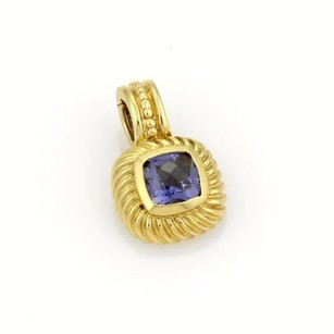 David Yurman David Yurman Nobelesse Iolite Gem Pendant In 18k Yellow Gold
