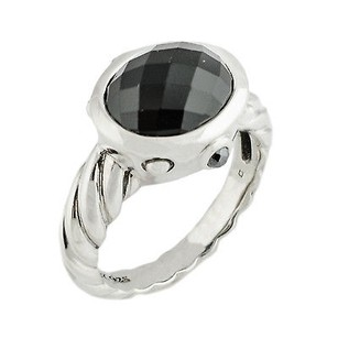David Yurman David Yurman Sterling Silver Onyx Ring 7.2 Grams Ring