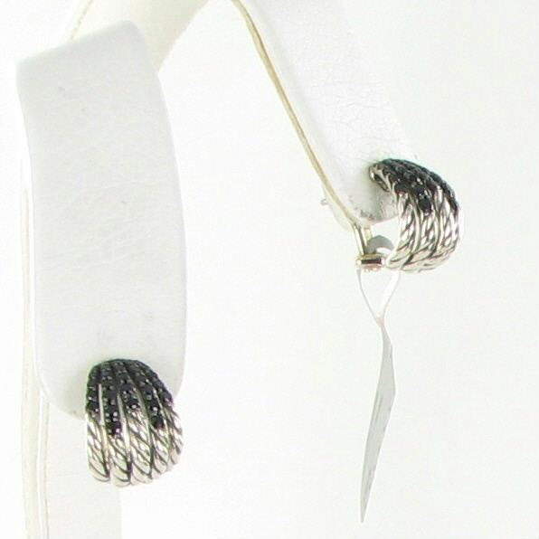 how to clean black off sterling silver earrings