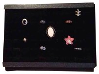 Dazzle boutique Ring Display Case Holds 60 Rings in a velvet background