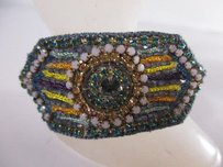 Deepa Gurnani Deepa Gurnani Mutli Color Crystal Braided Double Band Ponytail Holder