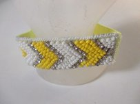 Deepa Gurnani Deepa Gurnani Yello Beaded Crystal Elastic Tie Bracelet Ponytail Holder
