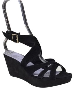 Delman Black Wedges