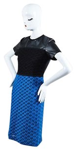 Derek Lam Black Blue Vegan Dress