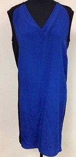 Derek Lam short dress Multi-Color Black W Blue Color Block Knee Length Sleeveless Shift L133 on Tradesy
