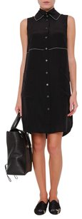 Derek Lam short dress Black Crosby Silk Sleeveless Collared Button Down Tunic on Tradesy