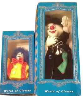 Designworks World Of Clowns Porcelain Dolls