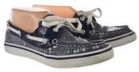 Dexter Womens Boat Sequined Casual Textile Blue Flats