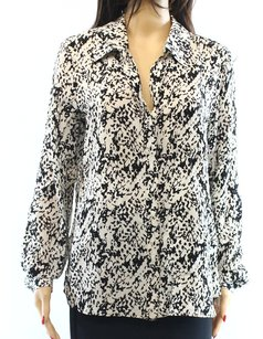 Diane von Furstenberg 100% Silk Button Down Shirt Top
