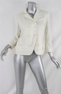 Diane von Furstenberg Dvf Womens Cream Tuxedo Whites Jacket