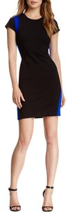 Diane von Furstenberg Color-blocking Two-tone Sheath Fitted Dress