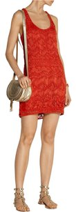 Diane von Furstenberg short dress Orange Crochet Summer Comfortable on Tradesy