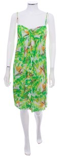 Diane von Furstenberg short dress Multi-Color Designer Print Empire Waist Spaghetti Straps 100% Silk Mesh Knit on Tradesy