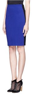 Diane von Furstenberg Pencil Classic Stripe Color-blocking Skirt Cobalt, Black