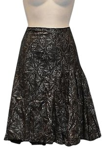 Diane von Furstenberg A6 Skirt Black/Grey/Metallic
