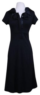 Diane von Furstenberg Womens Sheath 0 Wool Knee Length Ss Dress