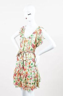Diane von Furstenberg short dress Multi-Color Pink Green Garden Print Lupe on Tradesy