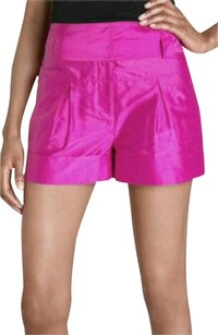 Diane von Furstenberg Silk Mid-rise Dress Shorts Pink