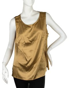 Diane von Furstenberg Silk Dress Top Gold