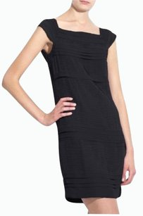 Diane von Furstenberg Silk Tieted Pleated Square Neckline Sleeveless Dress
