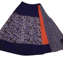 Diane von Furstenberg Skirt Navy orange