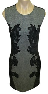 Diane von Furstenberg Dvf Gray Sleeveless Wool Dress