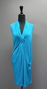 Diane von Furstenberg Knee Length Sleeveless Polyester Sma8125 Dress