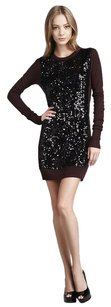 Diane von Furstenberg short dress Purple Danette Black Sequin Wool Long Sleeve Sweater Pxs0 on Tradesy