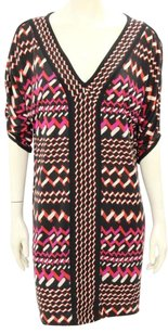 Diane von Furstenberg short dress Black, Red, Pink, Tan Tribal Print Silk on Tradesy