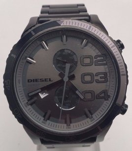 Diesel Diesel Men Watch Dz4314 Double Down Chronograph Grey Ip Gunmetal Analog Broken