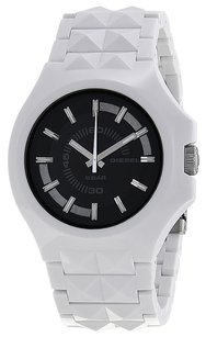 Diesel Diesel Stud Black Dial White Plastic Mens Watch DZ1645