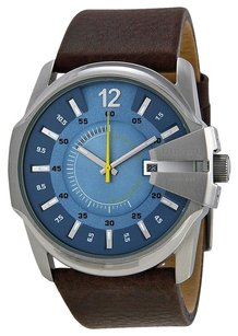 Diesel DZ1399 Not So Basic Blue Dial Brown Leather Men's Watch