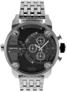 Diesel SBA Dual Time Chronograph Grey Dial Stainless Steel Men's Watch