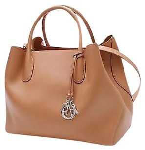 Dior Christian Grained Tote in Saddle (brown)