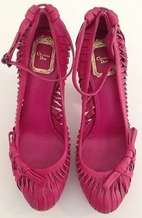 Dior Christian Leather Pink Platforms