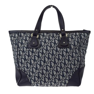 Dior Christian Hand Tote in Navy Blue