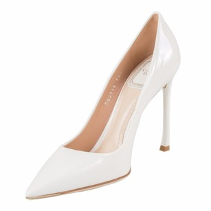 Dior Christian Patent White Pumps