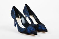 Dior Christian Navy Marine Blue Pumps