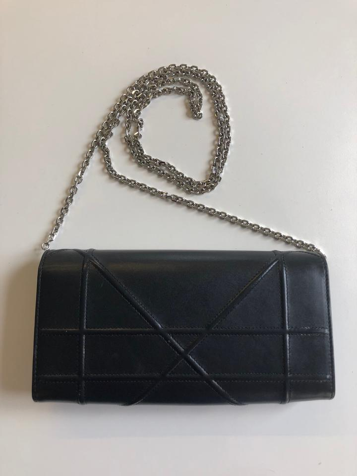 On Dior Croisiere Body Cross Wallet Chain Diorama Leather Bag Black Clutch qt6xtaTwnr