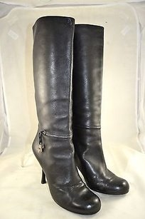 Dior Soft Leather Round Black Boots
