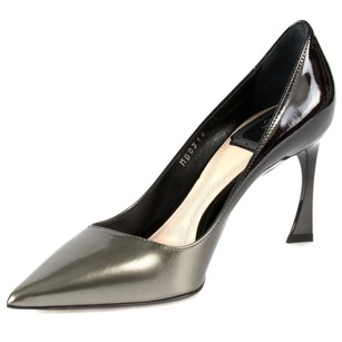 Dior Patent Calfskin Black/Grey Graded Pumps