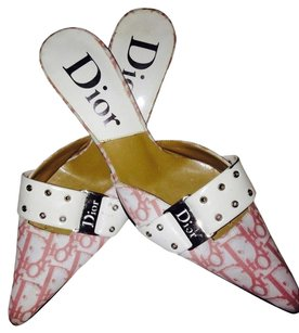 Dior Pink & White Mules