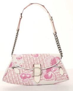 Dior Christian Girly Canvas Floral Monogram Handbag Shoulder Bag