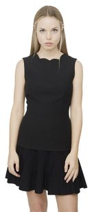 Dior Christian Scallop Top Black