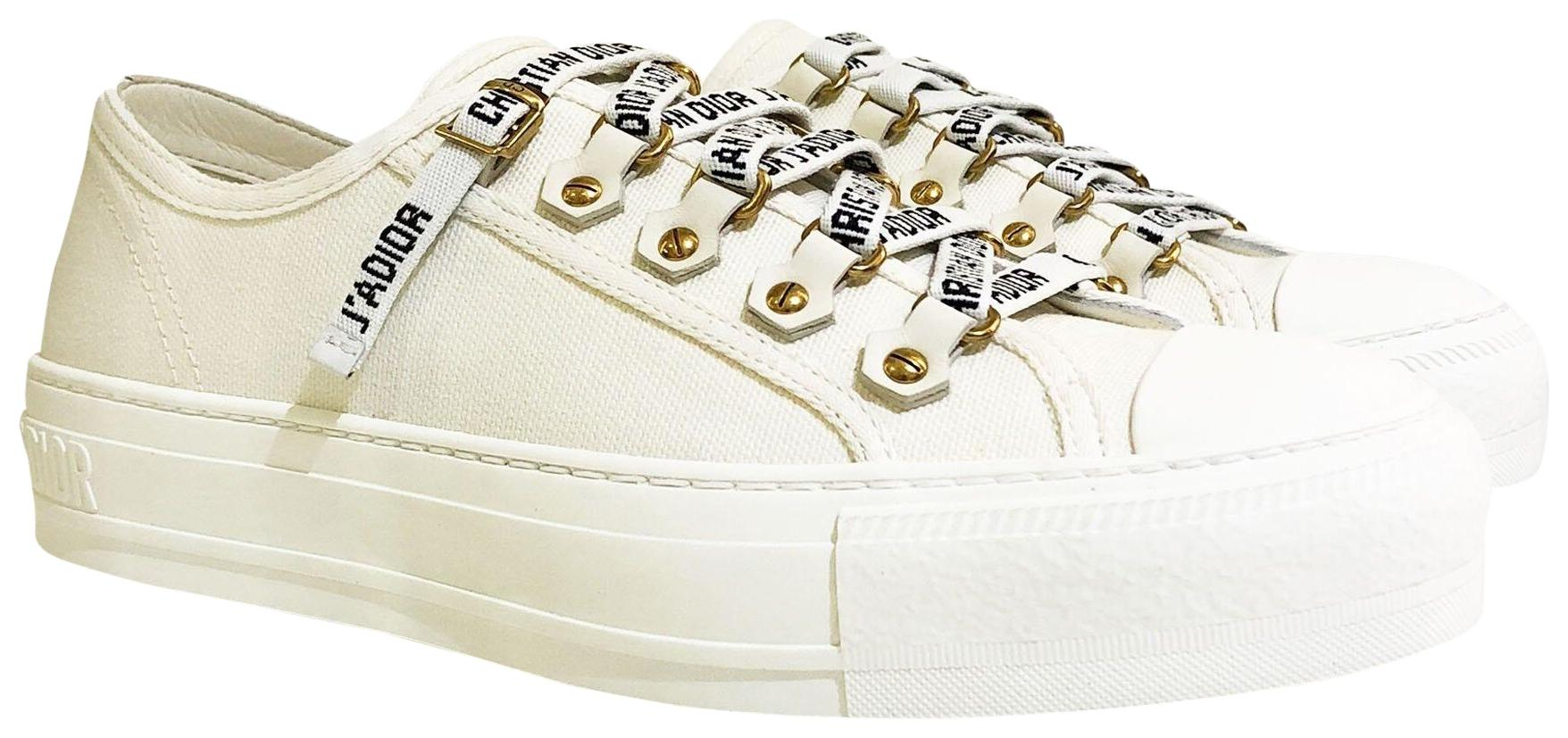 Dior White Low Trainer Sneakers Size EU 38 (Approx. US 8) Regular (M, B)