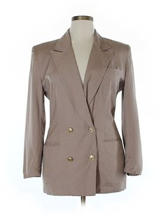 Dior Wool Double-breasted Gold Hardware Tan Blazer